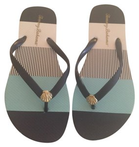 Tommy Bahama Blue and white Sandals