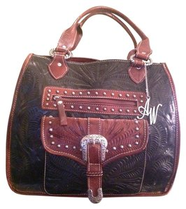 American West Tote in brown and tan