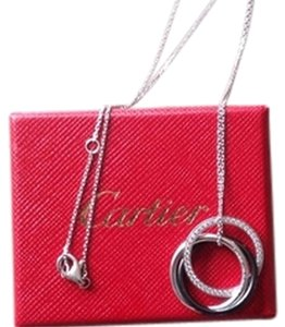 Cartier Trinity 18ct white-gold and diamond pendant necklace