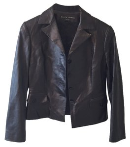 Ralph Lauren Blackk Leather Jacket