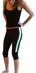 Nike Capris Black neon lime yellow