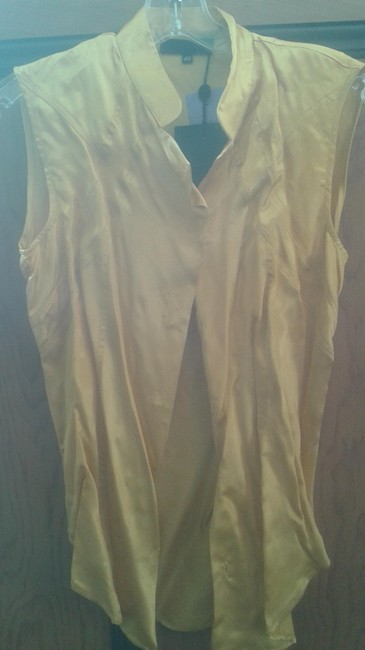 Preload https://item1.tradesy.com/images/costume-national-yellow-silky-blouse-size-6-s-10549540-0-1.jpg?width=400&height=650