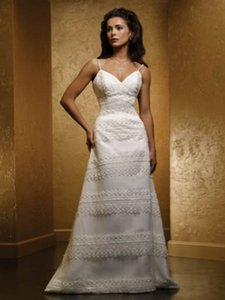 Mia Solano Ivory M459c Modern Wedding Dress Size 4 (S)