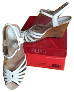 Aerosoles Leather White Wedges