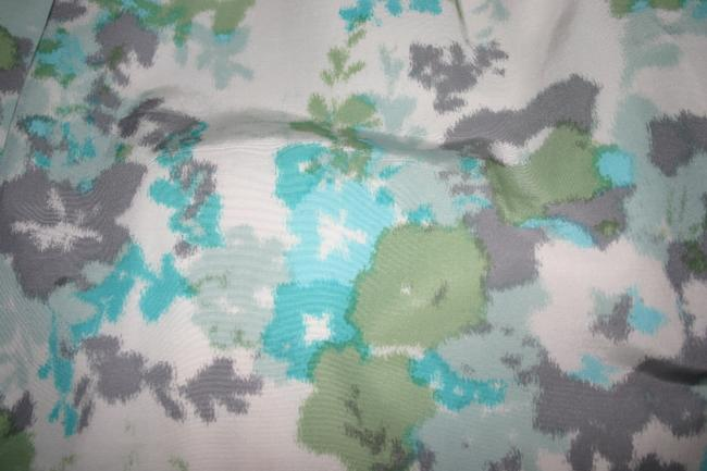 Halogen Skirt turquoise grees and blues with gray and white accents
