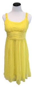 Banana Republic short dress Yellow 100% Silk Crepe Canary on Tradesy