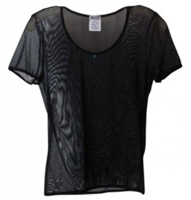 Preload https://item1.tradesy.com/images/dolce-and-gabbana-black-see-thru-short-sleeve-wturquoise-accent-night-out-top-size-6-s-10550-0-0.jpg?width=400&height=650