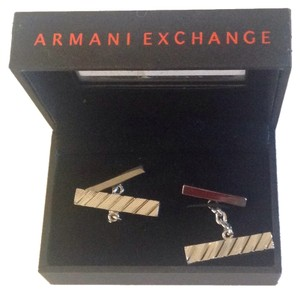 A|X Armani Exchange Stainless Steel Cufflinks