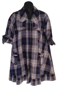 Twelve by Twelve short dress Blue and grey plaid on Tradesy