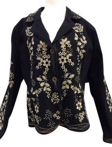 Paparazzi Embroidered Embellished black Blazer