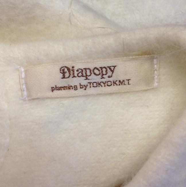 Diapopy planning by TokyoK.M.T Cashmere 1980's 80's 60's Peep Hole Button 50's 3'4 Length Sleeve Sequin Rhinestone Crystal Sparkly Ivory Soft Creme Sweater Image 6