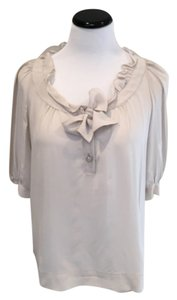 Maje Silk Pale Feminine Top Grey