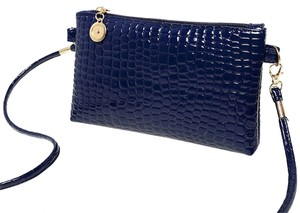 Other Pu Zippered Clutch Wristlet Messenger Cross Body Bag