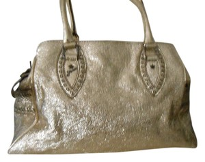 Fendi Vintage Monogram Ff Stamped Tote in Gold Glitter Metallic