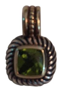 David Yurman David Yurman Petite Albion Sterling 14K Green Peridot Cable Pendant Enhancer