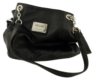 Nicole Leather Chain Shoulder Bag