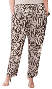 Lane Bryant Size 26/28 Leopard Print Relaxed Pants Beige