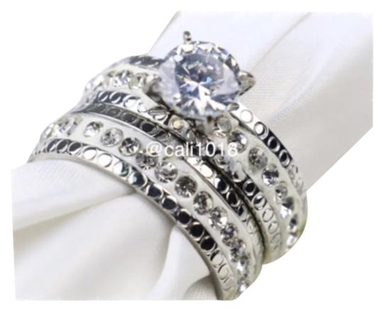 Preload https://item2.tradesy.com/images/white-and-silver-stainless-steel-2-pc-set-ring-10552156-0-1.jpg?width=440&height=440