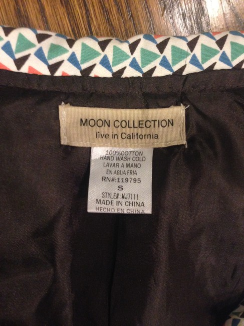 Moon Collection Vintage Rare Sold Out Cute Retro Trench white teal orange blue Jacket