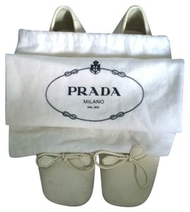 Prada White Pumps
