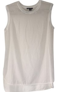 Vince Classic Basic Sheer Sexy Top White