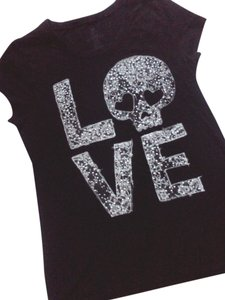 Punk Emo Skater Lace T Shirt black