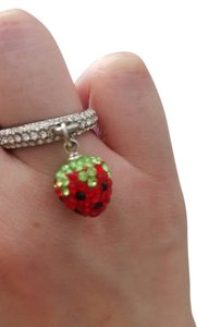 Other Crystal Dangling Strawberry Ring