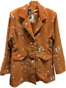 Paparazzi Wool Embroidered Floral Front Flap Coat