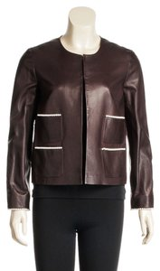 Chanel Brown Leather Jacket