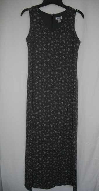 Dark Gray Maxi Dress by Old Navy Floral Sleeveless