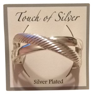 touch of silver Silver Plated Bangle