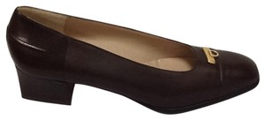 Salvatore Ferragamo Classic Chic Career dark brown Pumps