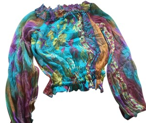 Extra made in Italy Top Multi color 2 different color pattern for each shirt