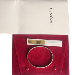 Cartier BEST PRICE -Cartier Love Bracelet W Pouch 18K WHITE GOLD