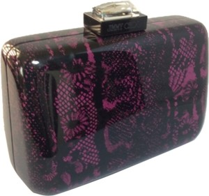 Jimmy Choo Pink/Black Clutch