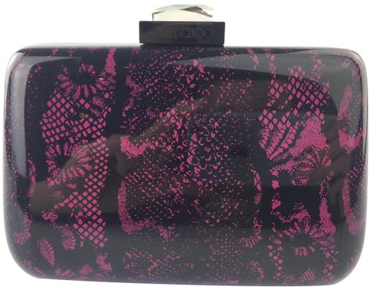 Preload https://item5.tradesy.com/images/jimmy-choo-lana-lace-print-pink-and-black-acrylic-clutch-10555219-0-3.jpg?width=440&height=440