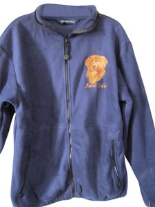 HOLLOWAY Embroidered New Golden NAVY BLUE FLEECE Jacket