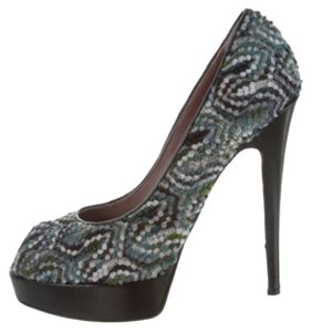 Missoni Grey blue green Pumps