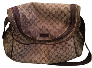 Gucci Brown/tan Diaper Bag