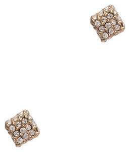 BCBGeneration BCBGENERATION Gold-Tone Crystal Pave Cube Stud Earrings