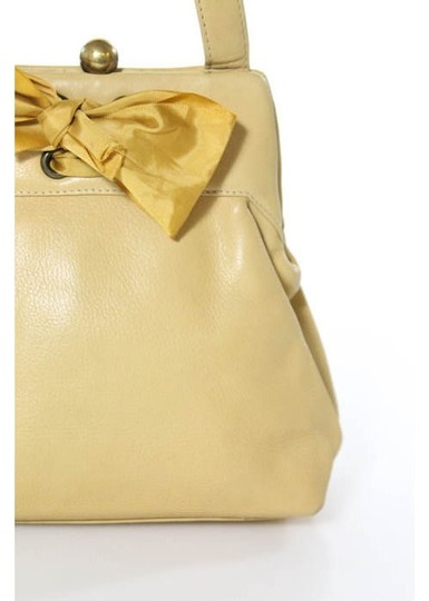 Marc Jacobs Leather Wristlet in Yellow