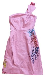 Cynthia Rowley short dress Pink/ Multi (yellow, Turquoise, Pink, And White Coral Design) on Tradesy