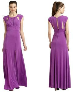 BCBGMAXAZRIA Cut-out Comfortable Purple Dress
