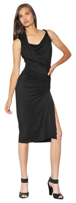 Preload https://item5.tradesy.com/images/michelle-jonas-black-knee-length-grecian-twist-mid-length-cocktail-dress-size-4-s-10556974-0-3.jpg?width=400&height=650