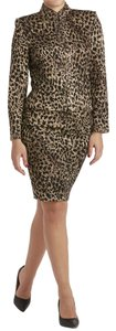 St. John St John Knits Evening Leopard Print Jacket & Skirt Suit (8/6)
