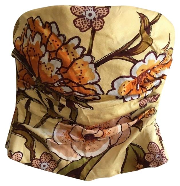 Preload https://item3.tradesy.com/images/kay-unger-yellow-pastel-silky-floral-strapless-bustier-blouse-night-out-top-size-2-xs-10557397-0-1.jpg?width=400&height=650