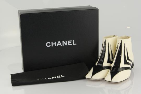 Chanel White/Black Boots