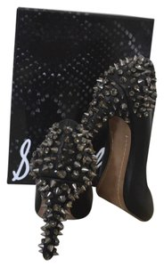 Sam Edelman Lorissa Rockstud Crystal Black Pumps