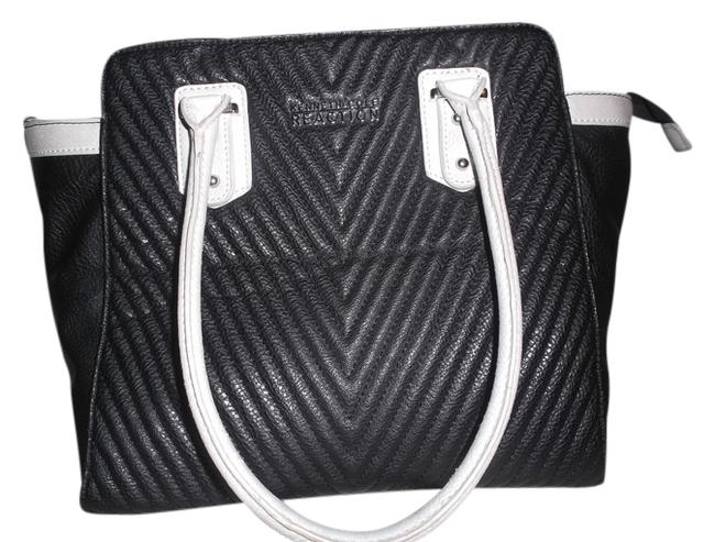 Kenneth Cole Reaction Bag Kn1541/78 Black/Ivory Exc Black/Ivory Pvc Tote Kenneth Cole Reaction Bag Kn1541/78 Black/Ivory Exc Black/Ivory Pvc Tote Image 1