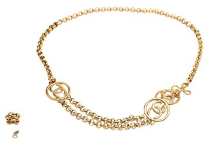 Chanel * CC Logo Long Chain Gold Tone Chain Belt - Adustbale length